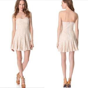 Bcbg maxazria lisanne lace strapless dress